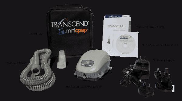 อุปกรณ์ในชุด Transcend Auto CPAP