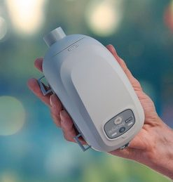 Transcend auto cpap in hand