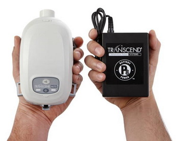 Transcend auto cpap with battery