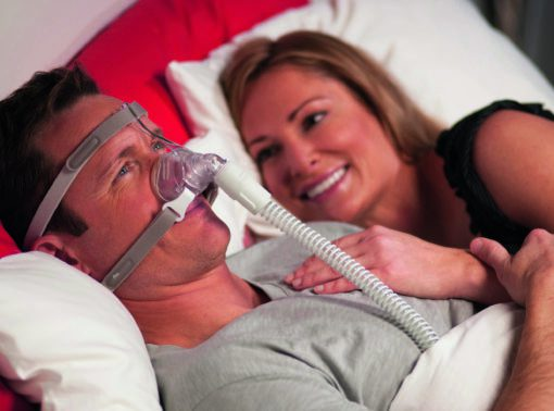 Pico Nasal Mask male on bed