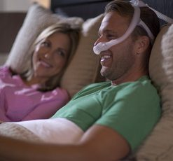 DreamWear Nasal Mask Man Smiling