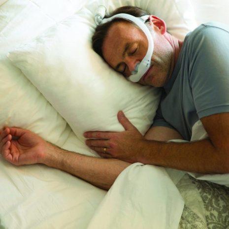 Sleeping with DreamWear Gel Pillow Mask