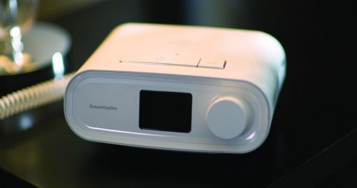 DreamStation Auto CPAP angled up