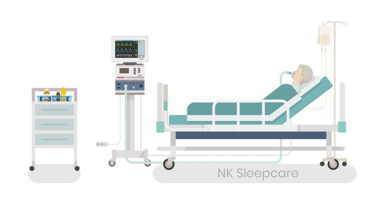 เครื่องช่วยหายใจ Ventilator ในโรงพยาบาล