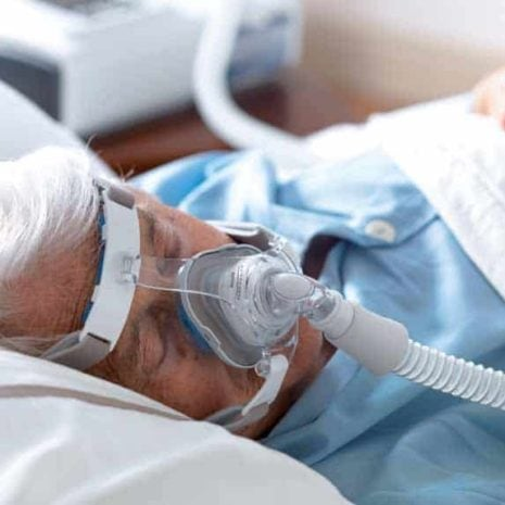 Patient with BiPAP A40 and mask