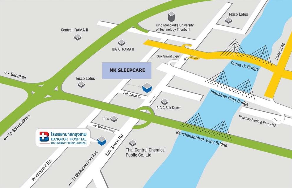 NK Sleepcare Head Offce Map